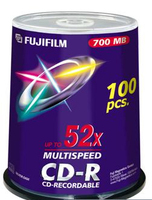 CD-R 80'700 MB 52X FULL PK100 IMPRIMABLE JET D'ENCRE PRO